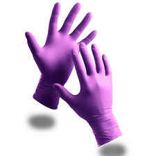 200 Extra Strong Purple Powder Free Nitrile Disposable Gloves XL Food Medical
