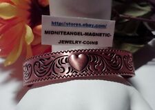 LADIES HEARTS & BLUEBIRDS HEAVY COPPER CUFF/BANGLE MAGNETIC HEALING THERAPY
