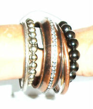 "Hot Trends Loves Fashion Copper Tone Set of 6 ""Bangles"" RRP £19.99"