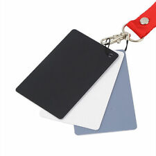 3 in 1 Pocket-Size Digital White Black Grey Balance Cards 18% Gray Card DñO