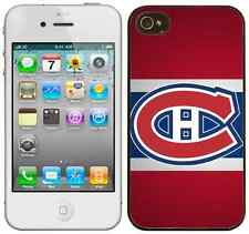Case Cover Black Plastic iPhone 4 4S 4G Logo Habs Montreal Canadiens WOW !!