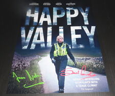 "HAPPY VALLEY PP X2 SIGNED 12X8"" A4 PHOTO POSTER JAMES NORTON SARAH LANCASHIRE"