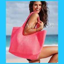Victorias Secret Beach Day Terry Tote Bag Hot Pink 2016 NEW!