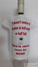Bottle T-Shirt novelty idea for a birthday gift for a postive wine lover