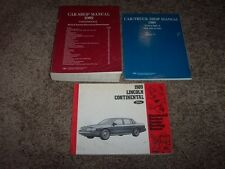 1989 Lincoln Continental Workshop Shop Service Repair Manual + Electrical Wiring