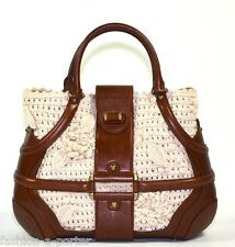 ALEXANDER McQUEEN CROCHET AND LEATHER NOVAK BAG TOTE VERY RARE VERSION! BNWT