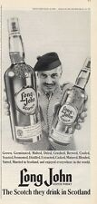 1965 Long John Scotch Whiskey Vintage Bottle PRINT AD