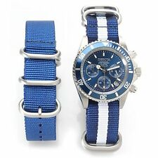 Invicta 40mm Pro Diver Admiral Quartz Chrono Nylon Strap Watch w/ Extra Strap