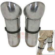 Warlord Medieval Armor Combo Legs Carbon Steel Greaves Poleynes Knee Cops Guards