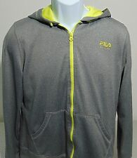 Fila Sport Gray Long Sleeve Full Zip Hooded Sweatshirt Mens Large (Fits Like M)