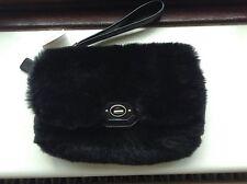 Fab COACH Black Fur Clutch. BNWT