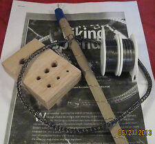 Hematite Necklace VIKING KNIT Jewelry Tutorial, KIT & INSTRUCTIONS, WIRE #00