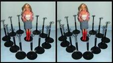 2 dozen (24) Black Kaiser Doll Stands for BARBIE Monster High