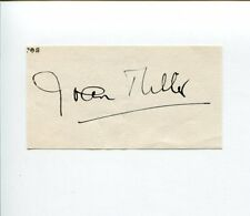Joan Miller Anne of Green Gables Emergency-Ward 10 Criss Cross Signed Autograph