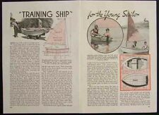 6' SAILING DINGHY Childs Sailboat 1936 How-To build PLANS