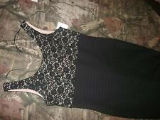 NWT Black Sequin and Lace Sleeveless Dress R & M Richards size 8