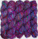 10 Skeins Himalaya Recycled Sari 100% Silk Yarn CROCHET Knit Woven multi color