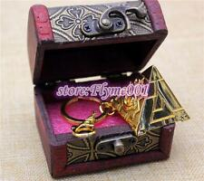 3D Yu-Gi-Oh Millenium PUZZLE Pendant YGO necklace keychian +WOOD BOX