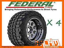 (4X) 33 / 12.5 / 15 FEDERAL COURAGIA 4WD MUD TYRES M/T AWESOME OFFROAD CHUNKY!!!