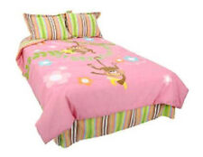 TWIN - Unlimited Kids - Monkey Madness Pink 3-pc BEDSKIRT, COMFORTER & SHAM SET