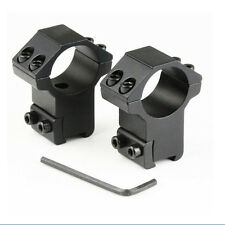 "2X Hot sale 1"" High Profile Rifle Scope Rings 25.4x11mm Dovetail Rail Mount UKJS"