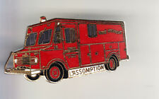 RARE PINS PIN'S .. POMPIER FIRE CAMION TRUCK AMBULANCE L'ASSOMPTION CANADA ~BY
