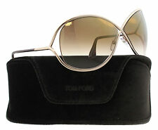 New Tom Ford Sunglasses Women TF 130 Havana 28G Miranda 68mm Woman's