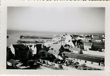 PHOTO ANCIENNE - VINTAGE SNAPSHOT - QUIBERON BRETAGNE PHARE PORT TOIT -ROOF 1950