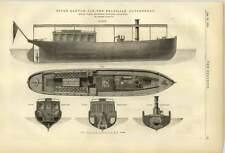 1874 Steam Launch For Brazilian Government Yarrow Hedley Isle Of Dogs