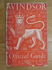 Windsor Official Guide, 1953, Travel guide to Windsor Castle, Eton College, vtg