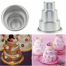 newcomdigi gts Mini 3-Tier Cupcake Pudding Chocolate Cake Mold Baking Pan Mould