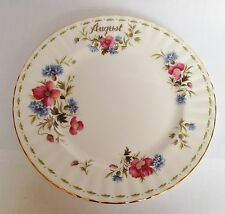 Royal Albert August Flower of The Month Salad / Dessert Plate 8 1/4 Inch China