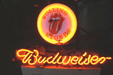 13''x7'' Rolling Stones Budweiser Beer Bar Neon Sign Light Promo Garage Poster