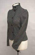 P389/24 French Connection Women's Cropped Black Woolen Jacket, size UK 6