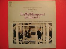Walter Carlos The Well-Tempered Synthesizer Vinyl LP Record Columbia MS7286 RARE