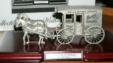 COLLECTABLE PEWTER WATKINS HORSE & WAGON MINI FIGURINE