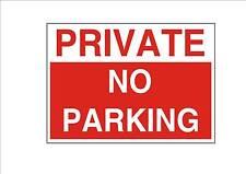 Privado no hay aparcamiento Diseño Letrero De Metal