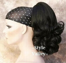 Black Ponytail Extension Hairpiece Flip out Curly Claw Clip in Hair Piece