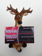 Deer Business Card Holder River's Edge Hand Painted  Hunting Brand NEW
