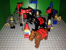 Lego Minifigure Castle Knights, Horses, Shields, Weapons - Lot Of 12 Figures!!!