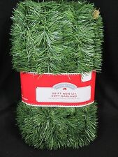 50' Non-Lit Christmas Soft Pine Garland Inside Outside Flame Retardant Holiday