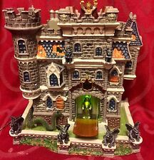 LEMAX Halloween CASTLE ON SPOOKY HILL Lighted House SPOOKY TOWN Animated Sound