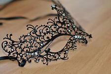 Stile Veneziano Metallo Filigrana Maschera Masquerade Diamante BALL. Prom. Costume.