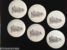 6 Limited Edition Moravian Congregational Store #1762 Plates Lititz Lancaster PA