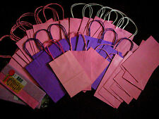 LG LOT OF 33 NEW Coordinating PNK*PRPL CRAFT/GLOSS GIFT BAGS and TISSUE