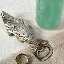 Silver Fish Shaped Metal Bottle Opener - perfect bar accessory