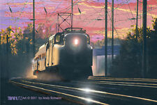 PENN CENTRAL (AMTRAK), ORIGINAL LTD EDITION RAILROAD ART DIRECT FROM ARTIST