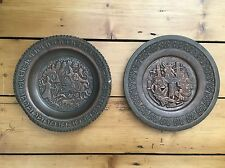 Antique Brass Religious Chargers