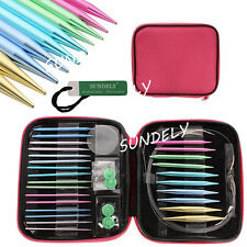 Interchangeable Circular Knitting Needle Tips Set 2.75mm-10mm with Gift Case