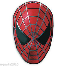 SPIDER-MAN 3 PAPER MASKS (4) ~ Birthday Party Supplies Favors Marvel Comic Red